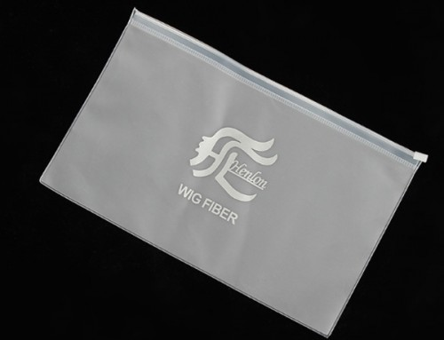 Wholesale Custom Frosted Flat Zipper Pouch For Clothing Packaging Bags